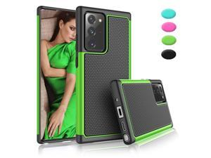 Galaxy Note 20 Ultra Case, Galaxy Note 20 Ultra Cute Case, Tekcoo Shock Absorbing Case Rubber Silicone +Plastic Scratch Resistant Bumper Grip Sturdy Hard Case Cover for Galaxy Note 20 Ultra, Green