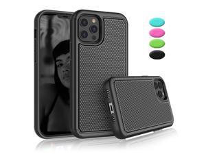 """iPhone 12 Pro Max Case, 2020 Apple 6.7"""" iPhone 12 Pro Max Cute Case, Tekcoo Shock Absorbing Case Rubber Silicone & Plastic Scratch Resistant Bumper Grip Sturdy Hard Phone Cases Cover New, Black"""