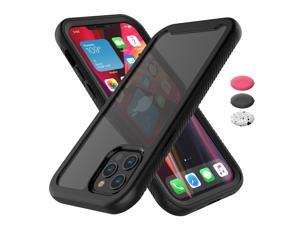 """Apple iPhone 12 Pro Max Case, 2020 Tekcoo Shock Absorbing Rugged Shockproof Crystal Clear Hard Case Full Body Protective Sturdy Cover TPU Shell Bumper Phone Cases for iPhone 12 Pro Max 6.7"""", Black"""