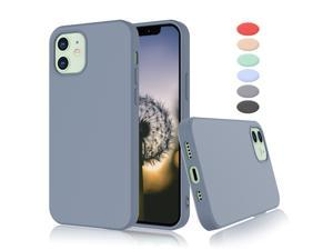 """iPhone 12 Case, Takfox iPhone 12 Pro Case [Frosted] Shockproof Case Liquid Silicone Gel Rubber Soft TPU Anti-slip Bumper Thin Matte Slim Phone Case Covers For iPhone 12 / iPhone 12 Pro 6.1"""", Grey"""