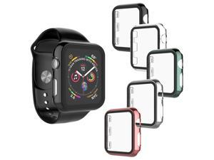 Apple Watch Case for Apple Watch Series 6/5/4/SE [44mm], Tekcoo with Built-in Screen Protector Shell Slim Anti-Scratch Bumper Frame Around Body Protective Cover for iWatch Series 6 5 4 Series Se