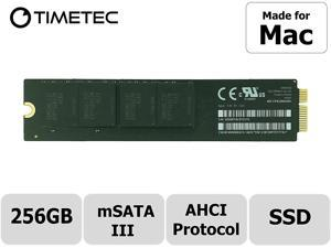 "Timetec OEM MZEPC256HBFU-000A2 256GB Compatible for Apple Mini SATA mSATA III 6 Gb/s SSD Flash for MacBook Air Mid 2012 11'' A1465 EMC 2558, 13"" A1466 EMC 2559 (SSD 256GB)"