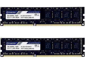 Timetec Hynix IC 8GB Kit (2x4GB) DDR3L 1600MHz PC3L-12800 Non ECC Unbuffered 1.35V/1.5V CL11 2Rx8 Dual Rank 240 Pin UDIMM Desktop PC Computer Memory Ram Module Upgrade (8GB Kit (2x4GB))
