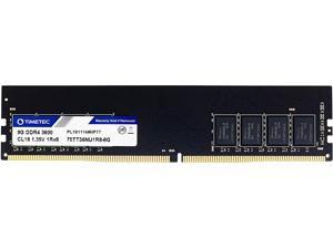 Timetec Hynix IC CJR 8GB DDR4 3600MHz PC4-28800 Unbuffered Non-ECC 1.35V CL18 288 Pin UDIMM Desktop Memory RAM Module Upgrade (8GB)
