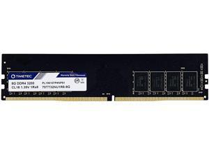 Timetec Extreme Performance Hynix IC 8GB DDR4 3200MHz PC4-25600 CL16 1.35V Unbuffered Non-ECC Single Rank Designed for Gaming and High-Performance Compatible with AMD and Intel Desktop Memory (8GB)