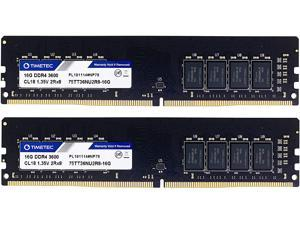 Timetec Hynix IC 32GB Kit (2x16GB) DDR4 3600MHz PC4-28800 Unbuffered Non-ECC 1.35V CL18 288 Pin UDIMM Desktop Memory RAM Module Upgrade (32GB Kit (2x16GB))