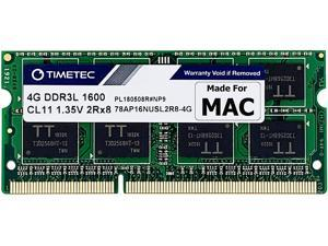 Timetec Hynix IC 4GB Compatible for Apple DDR3L 1600MHz PC3L-12800 SODIMM Memory Upgrade for Early/Mid/Late 2011, Mid/Late 2012, Early/Late 2013, Late 2014, Mid 2015 MacBook Pro, iMac, Mac Mini (4GB)
