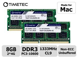 Timetec Hynix IC 8GB KIT(2x4GB) Compatible for Apple DDR3 1333MHz PC3-10600 for Early/Late 2011 13/15/17 inch MacBook Pro, Mid 2010 Mid/Late 2011 21.5/27 inch iMac, Mid 2011 Mac Mini