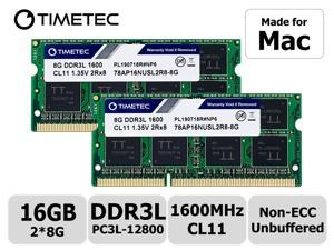 Timetec Hynix IC DDR3L 1600MHz PC3L-12800 SODIMM Compatible with Apple 2011, 2012, 2013, 2014 MacBook Pro, iMac, Mac mini (16GB Kit(2x8GB))
