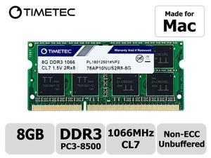 Timetec Hynix IC 8GB Compatible for Apple DDR3 PC3-8500 1067MHz /1066MHz SODIMM Memory Upgrade for MacBook 13'' Mid 2010, MacBook Pro 13'' Mid 2010, iMac 27''Late 2009, Mac Mini Mid 2010 (8GB)