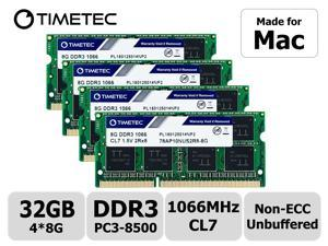 Timetec Hynix IC 32GB KIT(4x8GB) Compatible for Apple Late 2009 iMac 27inch DDR3 PC3-8500 1067MHz/1066MHz CL7 204 Pin 1.5V Dual Rank 2R8 Memory Module RAM Upgrade for iMac 11,1 (32GB KIT(4x8GB))