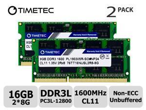 2x8GB Adamanta 16GB Laptop Memory Upgrade for Lenovo Y70 Touch DDR3L 1600Mhz PC3L-12800 SODIMM 2Rx8 CL11 1.35v Notebook RAM DRAM