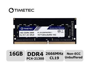 Timetec Hynix IC 16GB DDR4 2666MHz PC4-21300 Unbuffered Non-ECC 1.2V CL19 2Rx8 Dual Rank 260 Pin SODIMM Laptop Notebook Computer Memory RAM Module Upgrade S Series (Not for iMac 2019) (16GB)