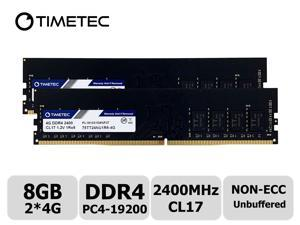Timetec Hynix IC 8GB Kit (2x4GB) DDR4 2400MHz PC4-19200 Unbuffered Non-ECC 1.2V CL17 1Rx8 Single Rank 288 Pin UDIMM Desktop Memory RAM Module Upgrade (8GB Kit (2x4GB))