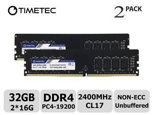 Timetec Hynix IC 32GB Kit (2x16GB) DDR4 2400 MHz PC4-19200 Non-ECC Unbuffered 1.2V CL16 2Rx8 Dual Rank 288 Pin UDIMM Desktop PC Computer Memory Ram Module Upgrade (32GB Kit (2x16GB))