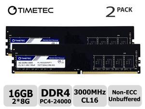Timetec Extreme Performance Hynix IC 16GB KIT(2x8GB) DDR4 3000MHz PC4-24000 CL16 1.35V Unbuffered Non-ECC for Gaming and High-Performance Compatible with AMD and Intel Desktop Memory (16GB KIT(2x8GB))