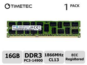 Timetec Original M393B2G70EB0-CMA 16GB DDR3 1866MHz PC3-14900 Registered ECC 1.5V CL13 2Rx4 Dual Rank 240 Pin RDIMM Server Memory RAM Module Upgrade (16GB)