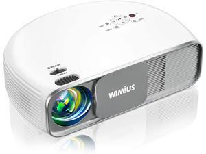 """Bluetooth Projector Native 1080P 7200Lux Full HD, WiMiUS Upgrade S4 Home & Outdoor Projector Support 4K & Zoom, 300"""" Led Video Projector Compatible with Fire TV Stick, PS4, Laptop, iPhone, DVD"""