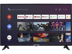 Sceptre Android TV A515CV-UMC 50-inch 4K UHD Smart LED HD TV Google Assistant Chromecast Bluetooth Remote HDR 3840x2160, Machine Black 2020