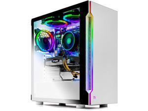 SkyTech Archangel 3.0 Gaming Computer PC Desktop - Ryzen 5 3600X 6-Core 3.8GHz, RTX 2060 6G, 1TB SSD, 16GB DDR4 3000, 240mm AIO, B450M MB, AC WiFi, Windows 10 Home 64-bit, White