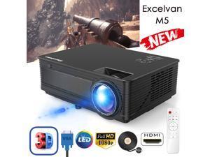 "200"" 5000 Lumen LED Projector HD 1080P Home Theater PS4 VGA TV BOX 2*USB 2*HDMI"