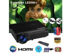 5000 Lumen Portable HD LED Projector 1920x1080P Home Theater Cinema 3D HDMI USB