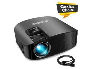 """GooDee HD Video Projector 3600L Outdoor Movie Projector, 200"""" Home Theater Projector Support 1080P, Compatible with Fire TV Stick, PS4, HDMI, VGA, AV and USB"""