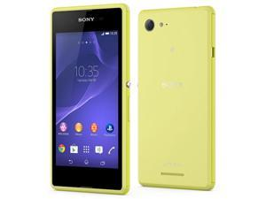 Sony XPERIA E3 D2206 Yellow, Unlocked International Phone