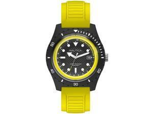 Men's Nautica Ibiza Yellow Silicone Band 44mm Watch NAPIBZ003