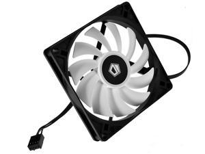 ID-COOLING 92*15mm Slim Low Profile Cooling 4Pin PWM Fan High Air Pressure Computer Cooling Fan Low Noise DC Fan, White + black color scheme