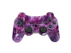 PS3 Controller Wireless Gamepad for PlayStation 3 Bluetooth Game Controller Remote Control Support PS3 with USB Cable (Galaxy)
