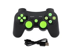 PS3 Controller Wireless Gamepad for PlayStation 3 Bluetooth Game Controller Remote Control Support PS3 with USB Cable (Green)