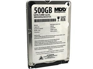 "MaxDigitalData 500GB 32MB Cache 7200RPM SATA 6.0Gb/s (7mm) 2.5"" Mobile Performance Hard Drive MD500GLSA3272S - 2 Year Warranty"
