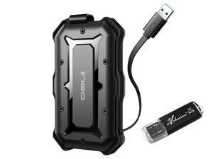 Avolusion ineo (T2566-960G+64G) IP66 Waterproof & Military-Grade Shockproof Rugged 960GB (1TB) USB 3.0 Portable External SSD + Free 64GB USB Flash Drive [R/W up to 550MB/s] - 6 Year Warranty