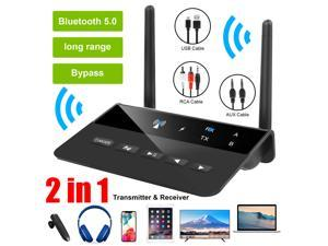 Long Range Bluetooth 5.0 Transmitter Receiver Apt-X HD Low Latency Audio Adapter