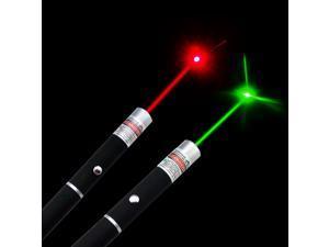 2pcs 5MW 532nm Green Laser Pointer + 650nm Lazer Ray Red Laser Pointer Pen