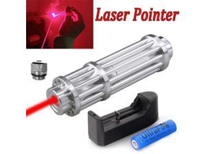 Military 1W 650nm Red Laser Pointer Pen Powerful Beam Light Zoom Focus 18650
