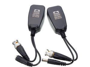 New 1 Pair CCTV Coax BNC Video Power Balun Transceiver to CAT5e 6 RJ45 Connector