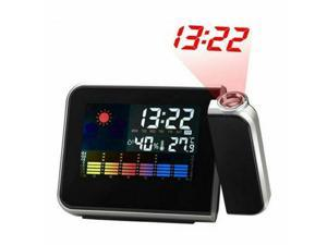 LCD Digital LED Projector Projection Alarm Clock Weather Station Calendar