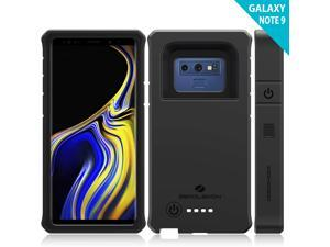 Galaxy Note 9 Battery Charging Case, ZeroLemon ZeroShock 10000mAh Extended Rechargeable Battery Rugged Case with Full Edge Protection for Galaxy Note 9 - Black