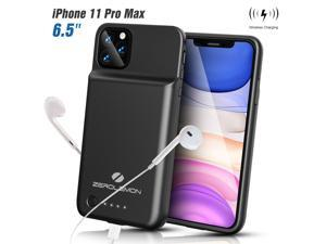 """ZEROLEMON iPhone 11 Pro Max Wireless Charging Battery Case, SlimJuicer 5000mAh Portable Protective Charging Case w/Qi Wireless Charging [Lightning Earphone Compatible] for iPhone 11 Pro Max 6.5"""" 2019"""