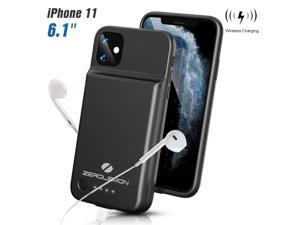 """ZEROLEMON iPhone 11 Wireless Charging Battery Case, SlimJuicer 4500mAh Portable Protective Charging Case w/Qi Wireless Charging[Lightning Earphone Compatible] for iPhone 11 6.1"""" 2019"""