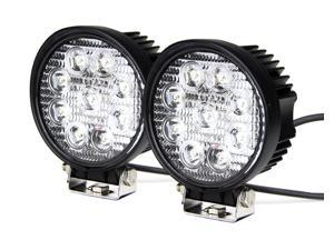 Tuff LED Lights Off Road Round LED Work Light - 4 Inch 27 Watt - Flood - Two Pack