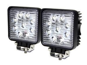 Tuff LED Lights Off Road Square LED Work Light - 4 Inch 27 Watt - Spot - 2 Pack