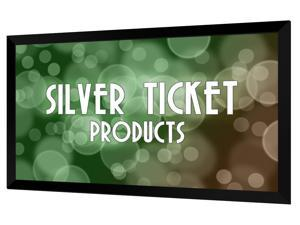 """STR-169135 Silver Ticket 135"""" Diagonal 16:9 HDTV (6 Piece Fixed Frame) Projector Screen White Material"""