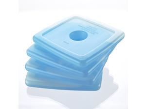 Fit & Fresh Cool Coolers Blue Reusable Slim Ice Packs-For Lunch Boxes or Coolers