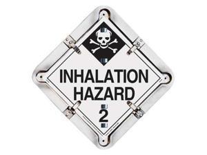 LABELMASTER 27HM206 Placard, 103/4inHx103/4inW, Aluminum