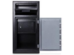 MESA SAFE COMPANY MFL2714CILK Cash Depository Safe, 1.3 cu ft, 120 lb, Two Tone