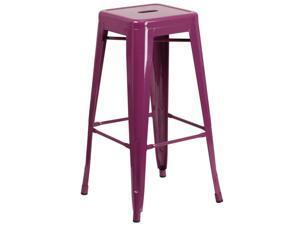 FLASH FURNITURE 4-ET-BT3503-30-PUR-GG Backless Purple Indoor-Outdoor