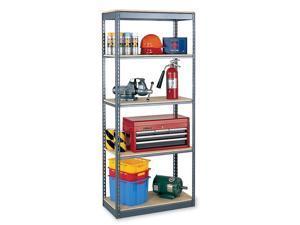 "EDSAL RS1502 Boltless Shelving Unit, 24""D x 36""W x 84""H, 5 Shelves, Steel"